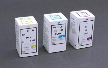 简约风格的高档药品包装设计欣赏